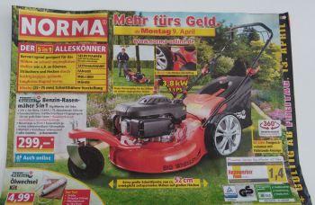 5-in-1 Benzin Rasenmäher von Norma