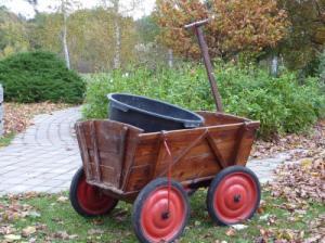Bollerwagen Gartenarbeit